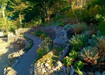 Hill side garden