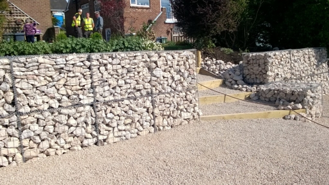 Gabion Wall, Perimeter, Building, In Person visits